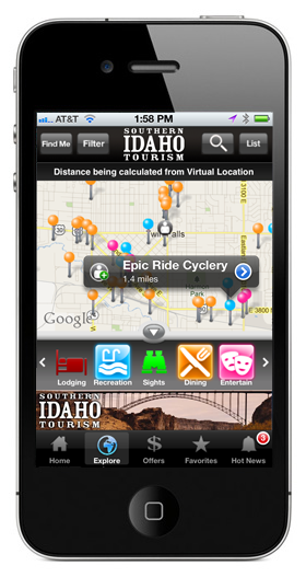 Southern Idaho Tourism iPhone App
