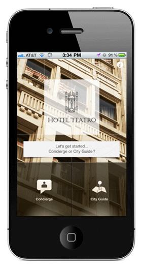 Hotel Teatro iPhone App