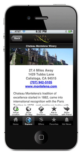 Visit Napa Valley iPhone App - Featured Listing